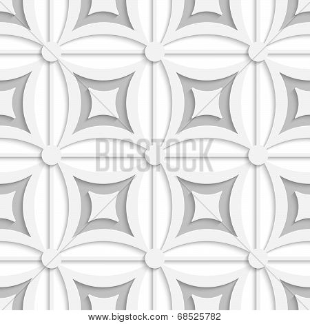 Geometric White And Gray Pattern With Squares