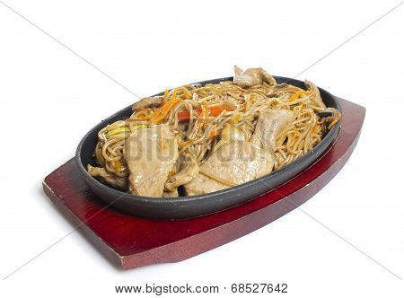 Soba Noodles With Meat