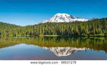 Early Morning At Reflection Lakes, Mount Rainier, Mount Rainier National Park, WA