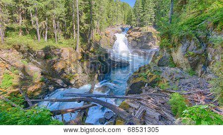 Silver Falls, Ohanapecosh River, Mount Rainier National Park, WA
