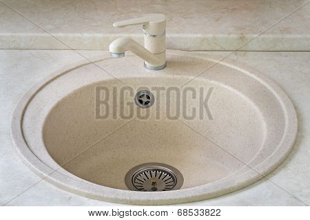 Sink For Ware And The Crane For Water