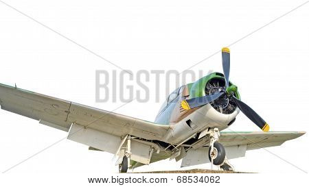 Fighter Aircraft In World War 2 Isolated On White