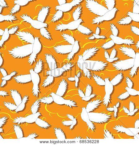 Holy Birds Dove Seamless Pattern