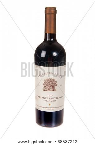 HAYWARD, CA - July 16, 2014: 2010 bottle of Freemark Abbey Cabernet Sauvignon wine
