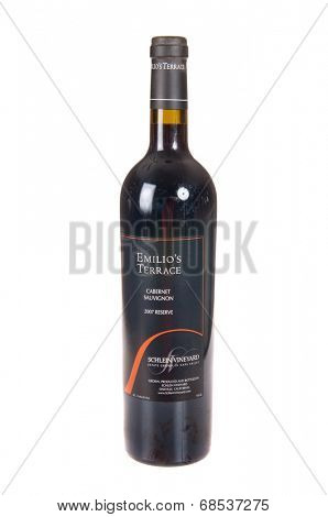 HAYWARD, CA - July 16, 2014: 2007 bottle of Emlio's Terrace Cabernet Sauvignon wine