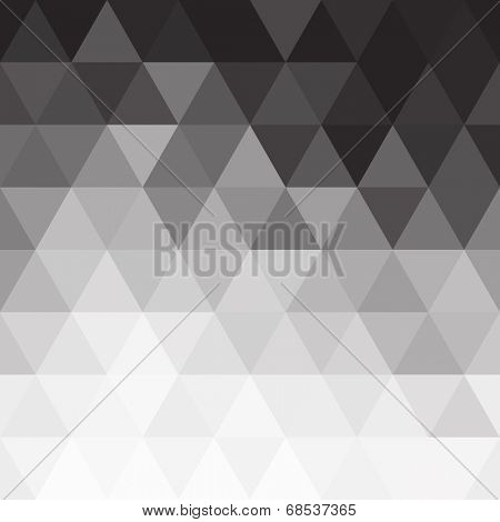 Triangular black and white blend background