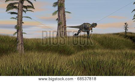 running aucasaurus dinosaurus