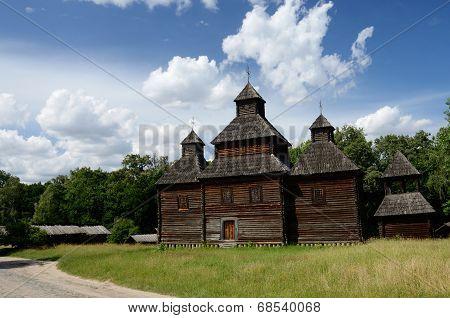 Old Resurrection Wooden Church From Poltavshina Region ,ukraine,pirogovo,europe