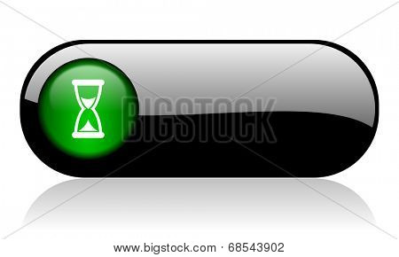 time black glossy banner