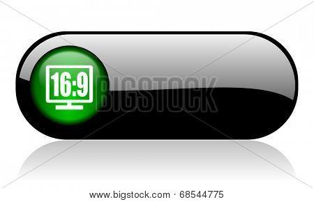 16 9 display black glossy banner