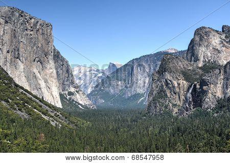 Yosemite - El Capital, Bridal Veil Falls, Half Dome
