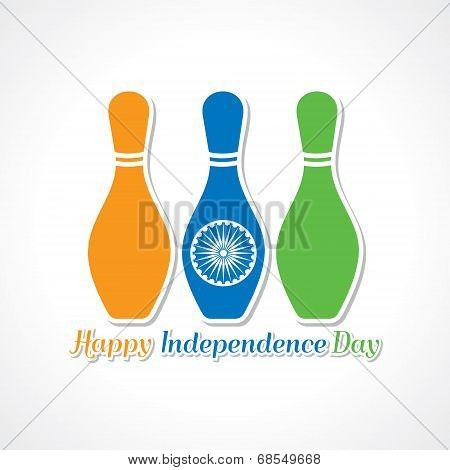 Happy independence day greeting card stock vector