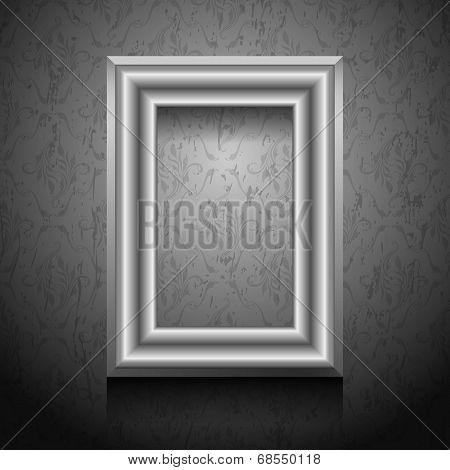 Vector Picture Frame On Wall.