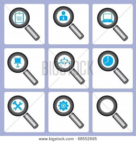 magnifier icons