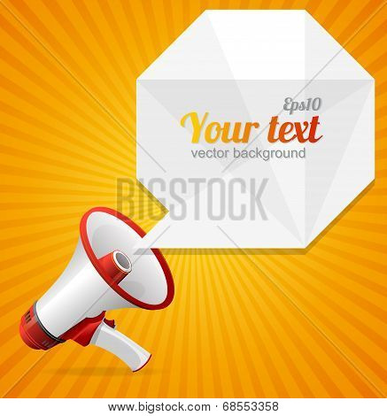 Vector modern Abstract megaphone speech bubble