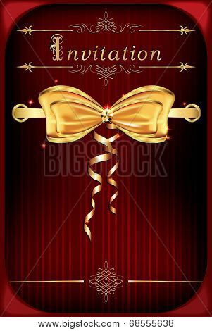 Red celebration invitation background