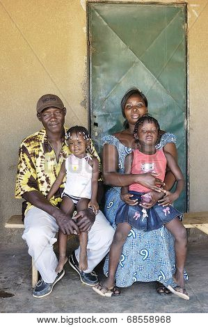 Portrait Of An African Family