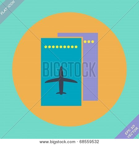 Airfare icon - vector illustration