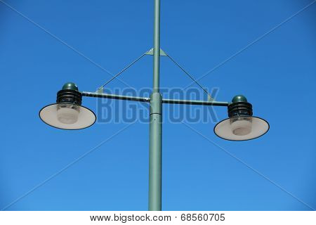 modern green Streetlight