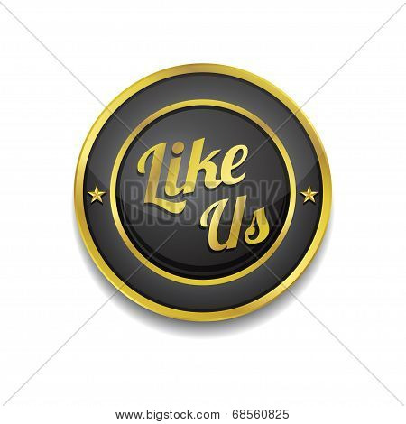 Glossy Like Us Vector Icon Button