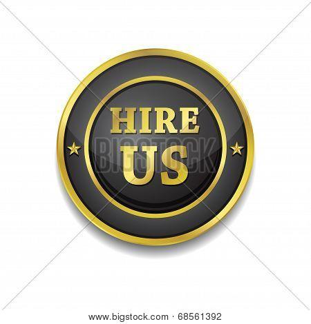 Hire Us Glossy Shiny Circular Vector Button