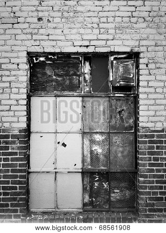 Boarded Up Warehouse Window