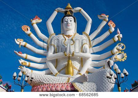 Statue Of Shiva On Koh Samui Island In Thailand