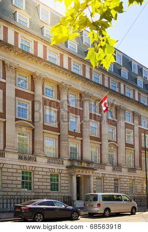 LONDON, UK - JUNE 3, 2014: Mayfair, Canadian embassy.