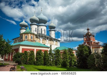 Cathedral of the Assumption of Tikhvin Assumption Monastery, Russia