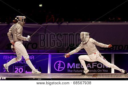 Womens Sabre Match Of World Fencing Championships