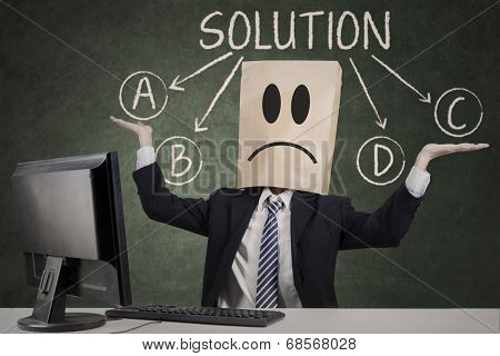 Businessman Doubt To Choose The Solution