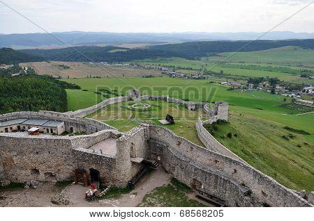 view Spis Castle, Slovakia, Europe