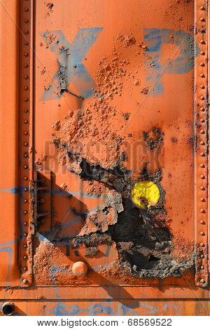 Rusted Boxcar Panel