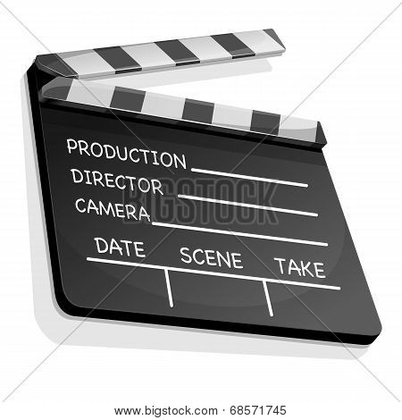 Clapperboard With An Information Field For Shooting Movies