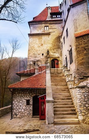 Close view of Bran Castle (Dracula castle)