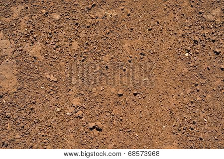 Brown ground surface