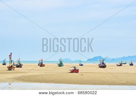 Ship Aground On The Beach