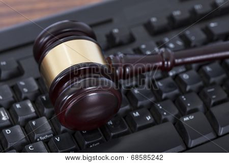 Mallet On Computer Keyboard