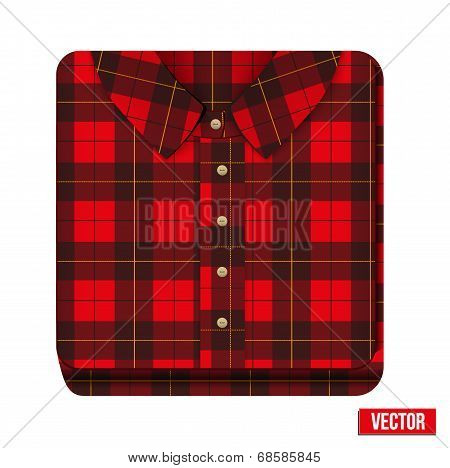 Icon flannelet check texture plaid shirt