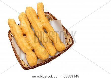 Deep-fried Dough Sticks In Basket