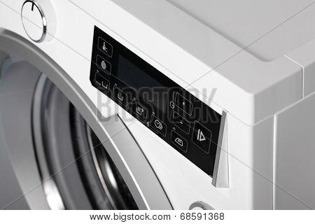 Washing machine close up.