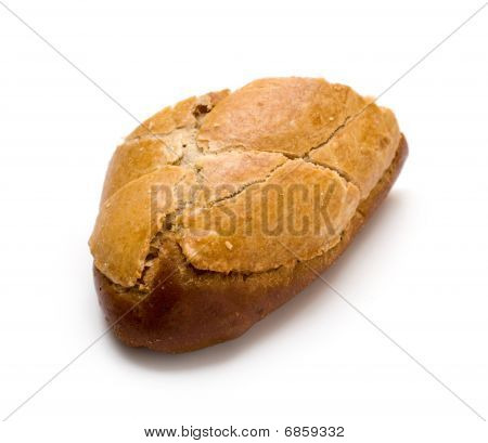 Whole Wheat Bread With Raisins Isolated On White