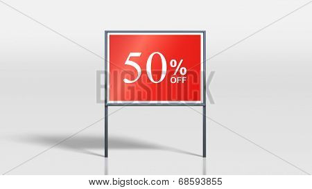 Shop Signage Stands 50 Percent Off Sign