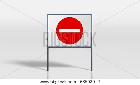 Traffic Signage Stands No Entry