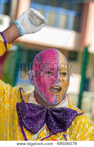 Victoria, Seychelles - April 26, 2014: Clown From Mauritius Island At The Carnival International De