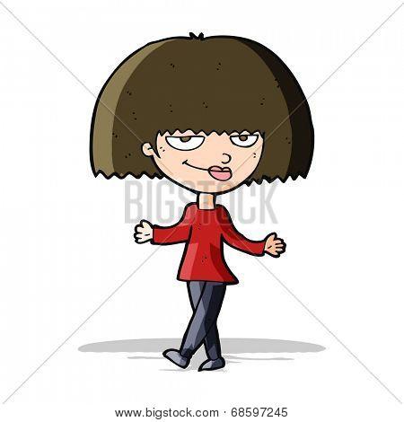 cartoon smug looking woman