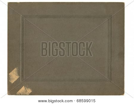Antique paper photograph cover background