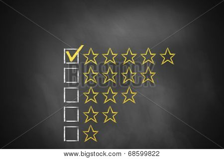 Golden Rating Stars Chalkboard