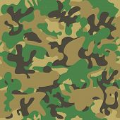 stock photo of camo  - Camouflage seamless pattern - JPG