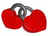 image of lock  - Illustration of red locks  - JPG